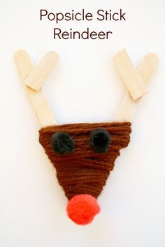 Popsicle Stick Reindeer Christmas Craft for Kids