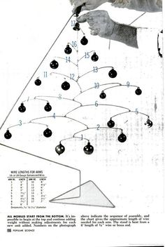 Calder inspired Christmas Tree mobile - from Popular Science
