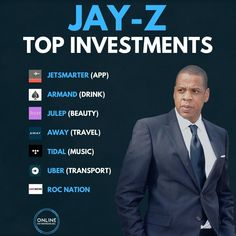Business | Make Money Online on Instagram: Jay-Z is officially the first hip-hop BILLIONAIRE!  - But its not because of his music its because he knows the power of putting his  - Make Money On Youtube ideas #MakeMoneyOnYoutube Financial Literacy, Financial Tips, Online Entrepreneur, Business Entrepreneur, Business Money, Jay Z Business, Money Makeover, Investing Money, Business Motivation