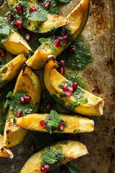 The almond pesto whips up in a hurry, and roasting acorn squash is simple to do. The two combining make for a delicious fall recipe perfect for Thanksgiving.