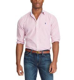 Polo Ralph Lauren - Striped Cotton Button-Down Shirt Button Downs, Button Down Shirt, Polo Ralph Lauren, Lord & Taylor, Dress Codes, Buttons, Shirt Dress, Mens Tops, Shirts