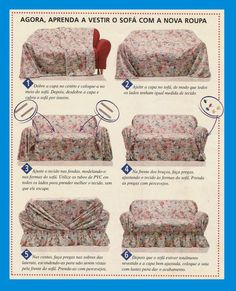 Picasa web albums - Different Ideas Diy Sofa Cover, Couch Covers, Furniture Covers, Furniture Makeover, Diy Furniture, Soft Furnishings, Slipcovers, Sewing Hacks, Diy And Crafts