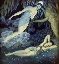 Selene and Endymion Edmund Dulac