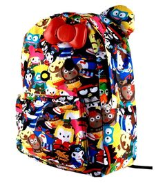 Hello Kitty Backpack Bag w/ Bow & Ears (Street Fighter - Multicolor)