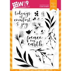 Featuring high quality photopolymer clear stamps and supplies for crafting. Comfort And Joy, Small Leaf, Peace On Earth, Simon Says Stamp, Clear Stamps, Christmas Cards, Xmas, Different Colors, Greenery