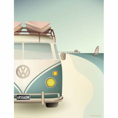 Packed full of excitement and good vibes, the VW Camper is headed for wide beaches and high waves. Buy the poster right here! Baby Posters, Ski Posters, Cool Posters, Poster On, Poster Print, Vw Camper, Volkswagen Bus, Campers, Vie Simple