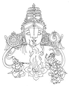 Tamil Cliparts: Venkatachalapathi Line Drawings for invitations Pencil Art Drawings, Art Sketches, Cornice Design, Bal Krishna, India Art, Ganesh, Line Drawing, Arrows, Painting Inspiration