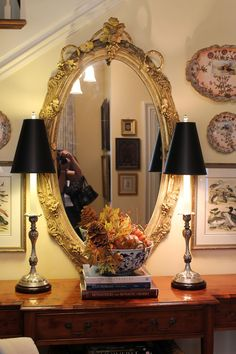 """Tallgrass Design: Mary Carol Garrity 2013 Fall Open House Tour-'a little bit of Autumn tucked around the home.""""  More or less Fall decorating inspiration, to suit your time constraints."""