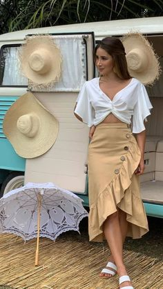Skirt Outfits, Chic Outfits, Casual Chic, Casual Wear, Trendy Outfits For Teens, Look Fashion, Womens Fashion, African Print Fashion, Weekend Outfit