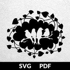 Four designs SVG / PDF cut file Paper Cutting Template