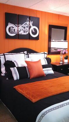 harley davidson decor ideas dens |  theme decorations - flames