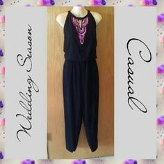 SOLD from my closet on Poshmark: Nicole Miller Dressy Jumpsuit SZ LARGE. Check it out! Price: $15 Size: L