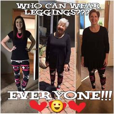 Everyone can wear leggings!  I love leggings and I'm almost 50~~   Check them out at http://leggingarmy.com/#leggingdeals