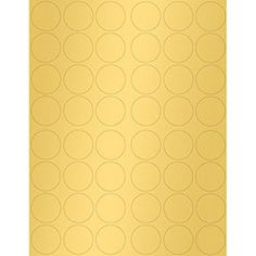 Gold 1.25 inch Round Printable Labels | Paper Source