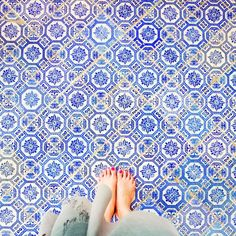 And another floor I was drawn to. I love walking on bare feet! #ihavethisthingwithfloors