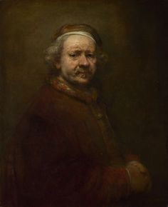 "Self-Portrait at the Age of 63 - Rembrandt.  1669.  Oil on canvas.  33 3/4 X 27 3/4"".  National Gallery, London, Great Britain."