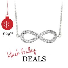 Crystal Infinity Fashion Pendant in Sterling Silver for $29.99 - Prices valid 11/24-11/30  #GiftsThatDelight #FredMeyerJewelers