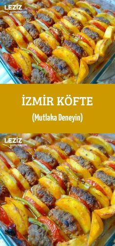 - İzmir Köfte (Mutlaka Deneyin) İzmir Meatball (Always Try) Meat Loaf Recipe Easy, Meat Recipes, Snack Recipes, Dinner Recipes, Healthy Eating Tips, Healthy Snacks, Best Meatloaf, Meat Appetizers, Turkish Recipes