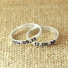 anillo con fecha