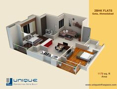 Wondering Best Suitable Unit Plan For Your Family? Checkout Unique Infraspace for Project details.