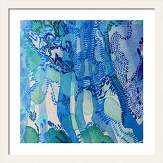 Blue Framed Print featuring the painting Striped Water by Christine Mahoney