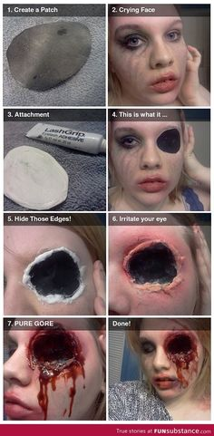 Halloween makeup - This is SO gross!