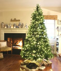 I've been decking the halls like there's no tomorrow. The wreaths are standing guard at the front door to welcome all holiday visitors and The stockings are awaiting their little stuffers. Fir Christmas Tree, Christmas Wrapping, Christmas Time, Beach Christmas, Christmas 2017, White Christmas, Merry Christmas, Christmas Tablescapes, Christmas Decorations