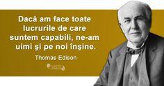 Citat Thomas Edison Optimism, Spirit, Inspirational Quotes, Motivation, Reading, Words, Memes, Photography, Life