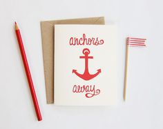 if my secret sister this summer likes nautical things, she can expect to see some cards like this coming her way...