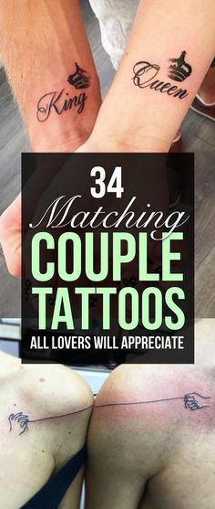 Awesome Couple Tattoo Designs | TattooBlend