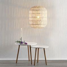 Pendellampe Danya i hvitt flettet papir Decor, Furniture, Lighting, Lamp, Side Table, Table, Home Decor
