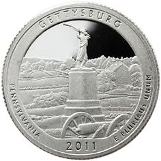 2011 San Francisco (S) America The Beautiful (ATB) Silver Quarter Gettysburg Proof (PF)