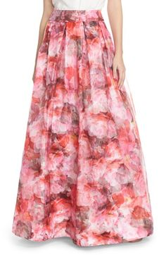 Eliza J Floral Organza Ball Skirt available at #Nordstrom