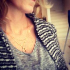 Dogeared large wishbone layered necklaces