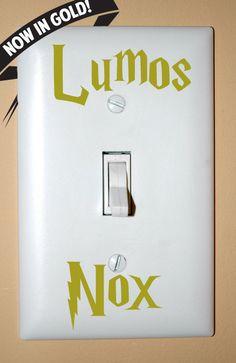 GOLD Lumos Nox Light Switch Decals