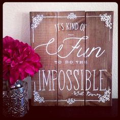 Walt Disney Quote Homemade Wooden Sign by collenelarson on Etsy, $20.00