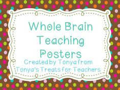 Tonya's Treats for Teachers: Whole Brain Teaching freebies and some rewards for Level Up Behavior Plan Activity Games For Kids, Activities, Positive Behavior Support, Teaching Posters, Behavior Interventions, Whole Brain Teaching, Learning Techniques, Classroom Setup, Beginning Of School