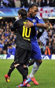 Messi and Drogba