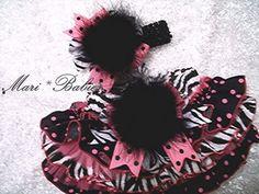Diva JustineFancy Pants Ruffled Diaper Cover Zebra by MariBabies, $44.95