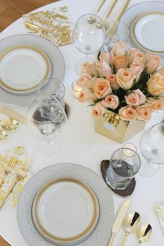 Glam Dinner Table