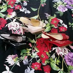 Nine west heel Nine west peep toe 3 inch, 1/2 inch platflorm heels in black red and beige. Sold for 32 each or 78 as a bundle. Nine West Shoes Platforms