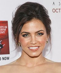 Jenna Dewan Hairstyle: Casual Updo Long Straight Hairstyle