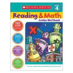 Reading & Math Jumbo Workbk Grade 4