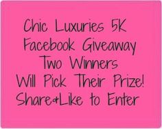 Facebook Giveaway! http://www.chicluxuries.com/2013/04/facebook-friends-giveaway.html