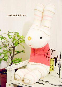 Cutest sock bunny by malidolls