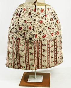 Skirt Date:     late 18th century Culture:     French Medium:     linen Dimensions:     Length: 38 x 92 in. (96.5 x 233.7 cm) Credit Line:     Gift of William Sloane Coffin, 1926