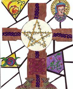 Christian Witch Cross: Christian Witchery, Wicca Pagan Witchy, Solitary Witches, Christian Witchcraft