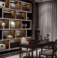 The Best Modern Home Office Design Elements Asian Interior, Modern Interior Design, Interior Architecture, Home Office Design, Office Decor, Luxury Office, Office Interiors, Modern Interiors, Interior Inspiration