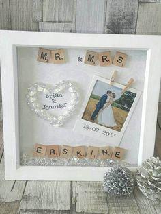 Wedding Gifts Wedding Frame Anniversary Gift Wedding Present Personalised - Handmade Wedding Gifts, Wedding Gifts For Guests, Best Wedding Favors, Personalized Wedding Gifts, Wedding Boxes, Wedding Frames, Wedding Anniversary Gifts, Diy Wedding, Wedding Bride
