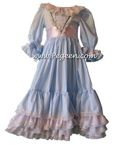 Nutcracker Dress - Clara's Nightgown in Cotton.  Part of the Nutcracker Collection by Pegeen.com - Style 761 | Pegeen ~ Located 1 mile from Disney World, Selling online and shipping worldwide. Call us for design help! 407-928-2377